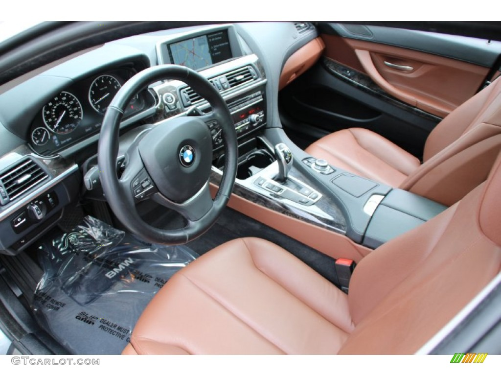 Cinnamon Brown Interior 2013 Bmw 6 Series 640i Gran Coupe