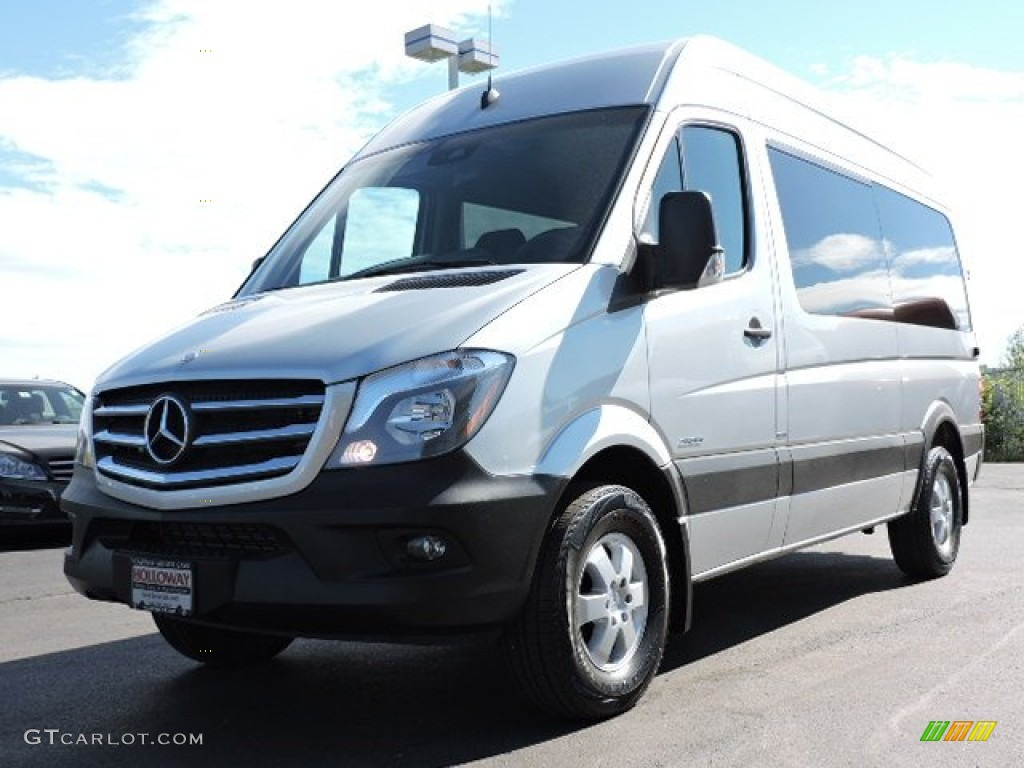 2015 brilliant silver metallic mercedes benz sprinter 2500 high roof cargo van 104130061 photo. Black Bedroom Furniture Sets. Home Design Ideas