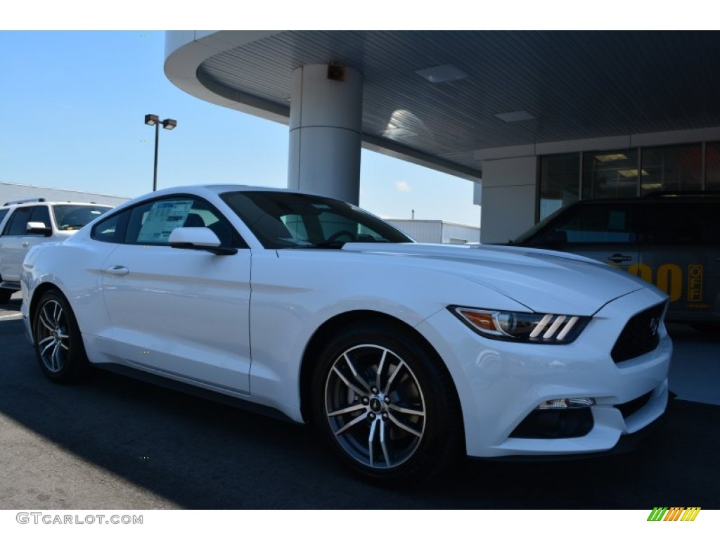 2015 Mustang EcoBoost Coupe - Oxford White / Dark Saddle photo #1