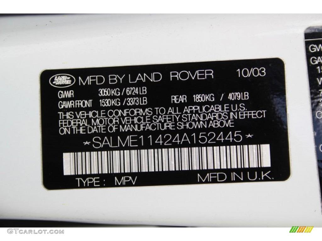 2004 Range Rover HSE - Chawton White / Ivory/Aspen photo #44
