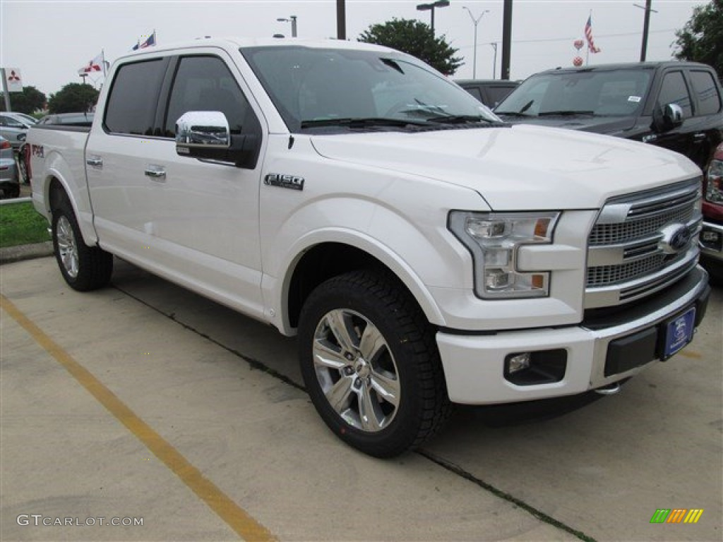 2015 white platinum tricoat ford f150 platinum supercrew 4x4 104198536 car. Black Bedroom Furniture Sets. Home Design Ideas