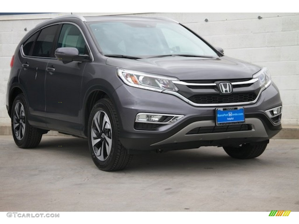 2015 CR-V Touring - Modern Steel Metallic / Gray photo #1