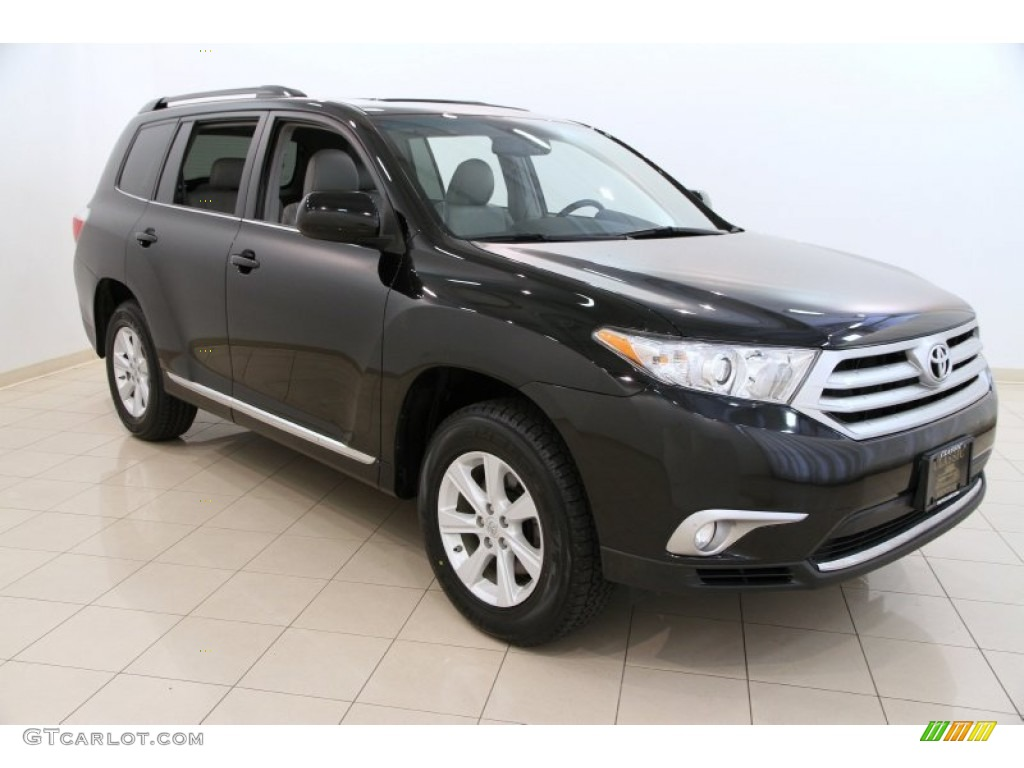 2012 black toyota highlander se 4wd 104284694 car color galleries. Black Bedroom Furniture Sets. Home Design Ideas