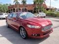 2013 Ruby Red Metallic Ford Fusion Titanium #104284466