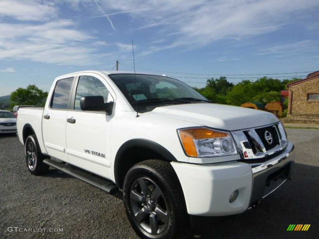 2015 glacier white nissan titan sv crew cab 4x4 104284728. Black Bedroom Furniture Sets. Home Design Ideas
