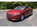 2015 Ruby Red Metallic Ford Fusion S #104381590
