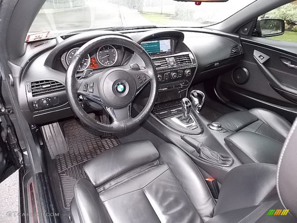 Black Interior 2008 BMW 6 Series 650i Convertible Photo 104391208