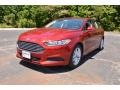 2015 Ruby Red Metallic Ford Fusion SE #104381571