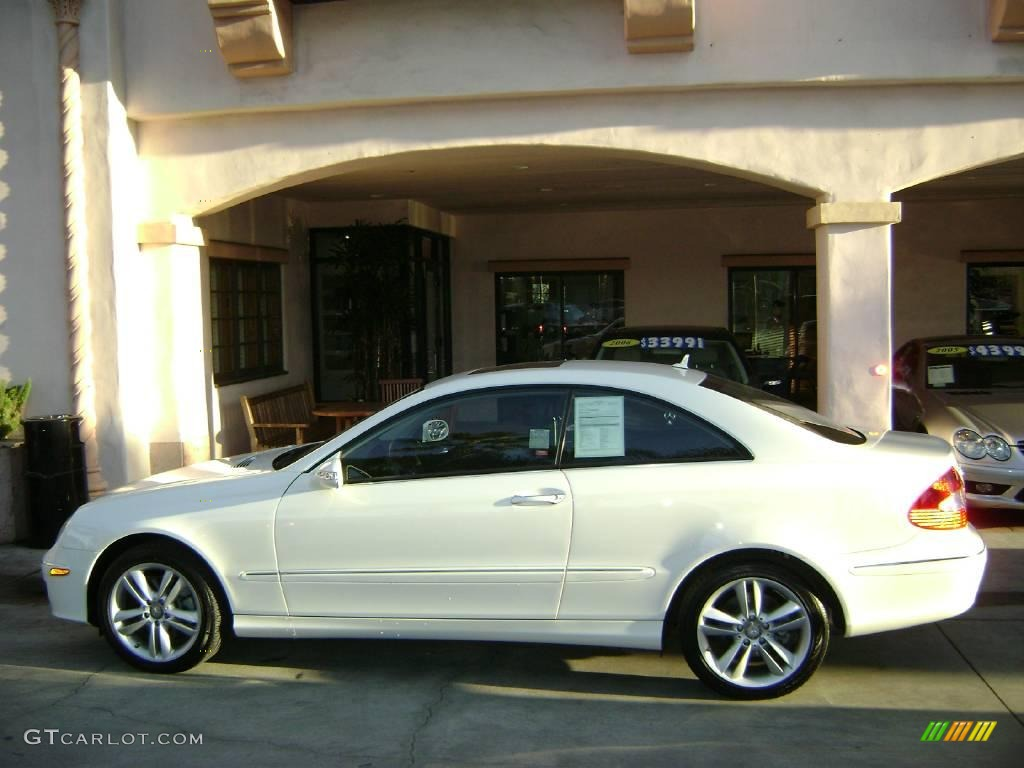 2008 arctic white mercedes benz clk 350 coupe 1042430 for Mercedes benz white paint