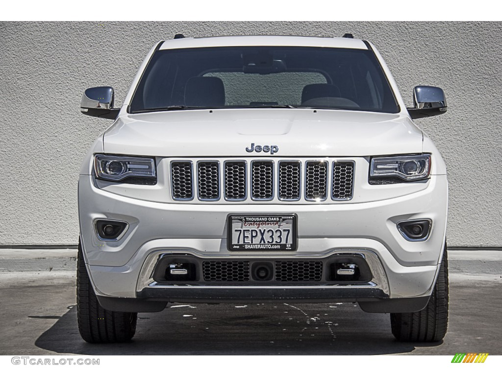 2014 bright white jeep grand cherokee overland 104439688 photo 2 car color. Black Bedroom Furniture Sets. Home Design Ideas