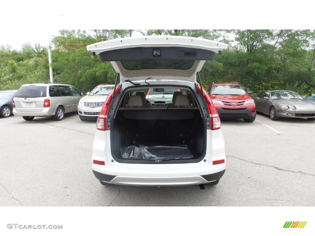 2015 CR-V EX-L AWD - White Diamond Pearl / Beige photo #10