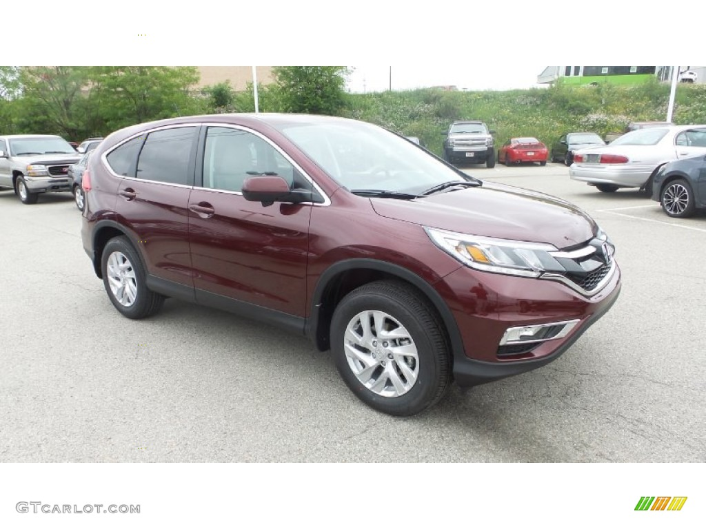 2015 CR-V EX AWD - Basque Red Pearl II / Gray photo #1