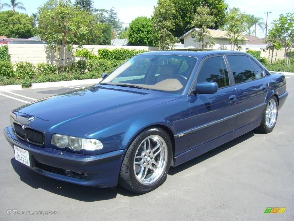 2001 Biarritz Blue Metallic Bmw 7 Series 740il Sedan