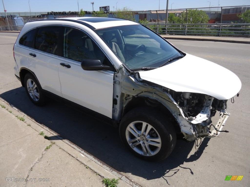 2011 CR-V EX 4WD - Taffeta White / Gray photo #1