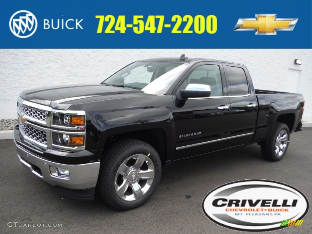 2015 black chevrolet silverado 1500 ltz crew cab 4x4 104481267 car color galleries. Black Bedroom Furniture Sets. Home Design Ideas