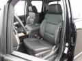 Jet Black Front Seat Photo for 2015 Chevrolet Silverado 1500 #104499025