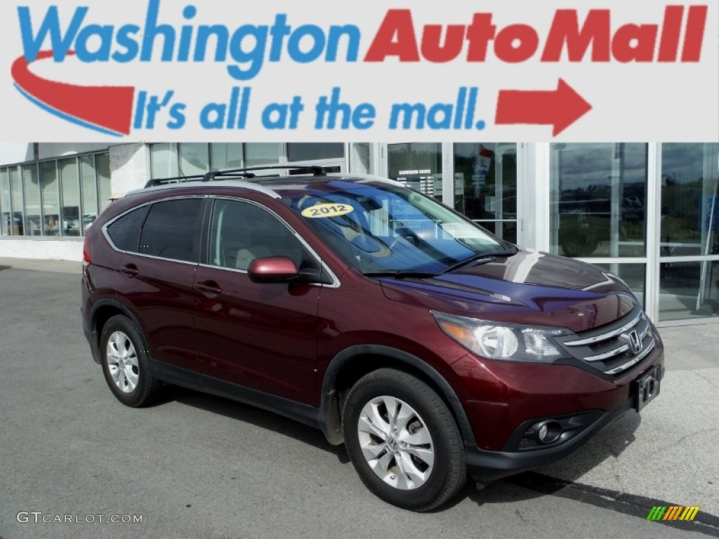 2012 CR-V EX 4WD - Basque Red Pearl II / Beige photo #1