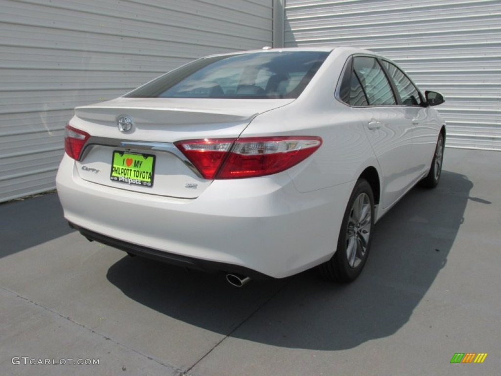 toyota camry 2015 white. 2015 camry se blizzard pearl white black photo 4 toyota