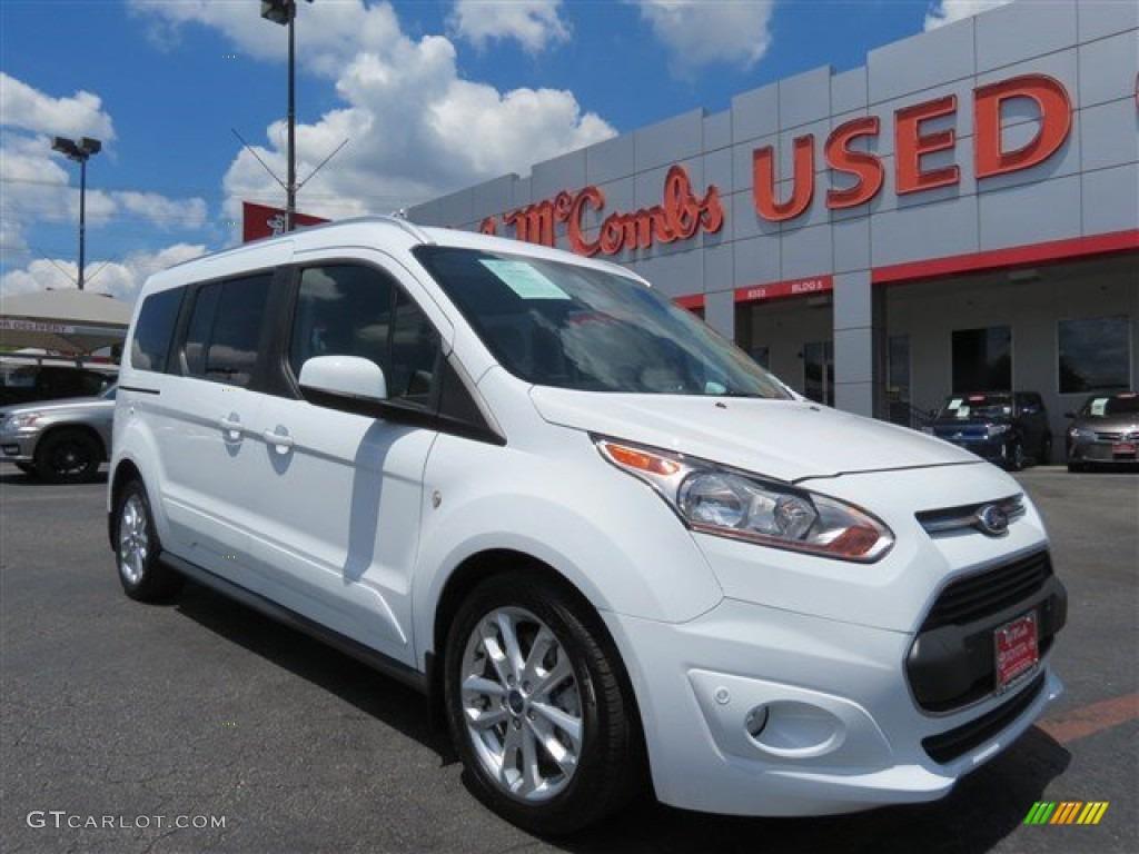 2014 frozen white ford transit connect titanium wagon 104518665 car color. Black Bedroom Furniture Sets. Home Design Ideas