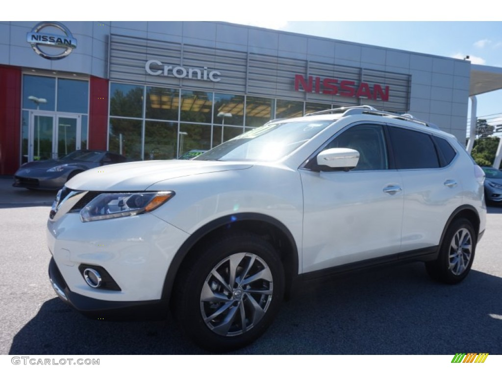 2015 pearl white nissan rogue sl 104518964 car color galleries. Black Bedroom Furniture Sets. Home Design Ideas