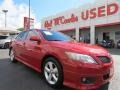 Barcelona Red Metallic 2011 Toyota Camry LE