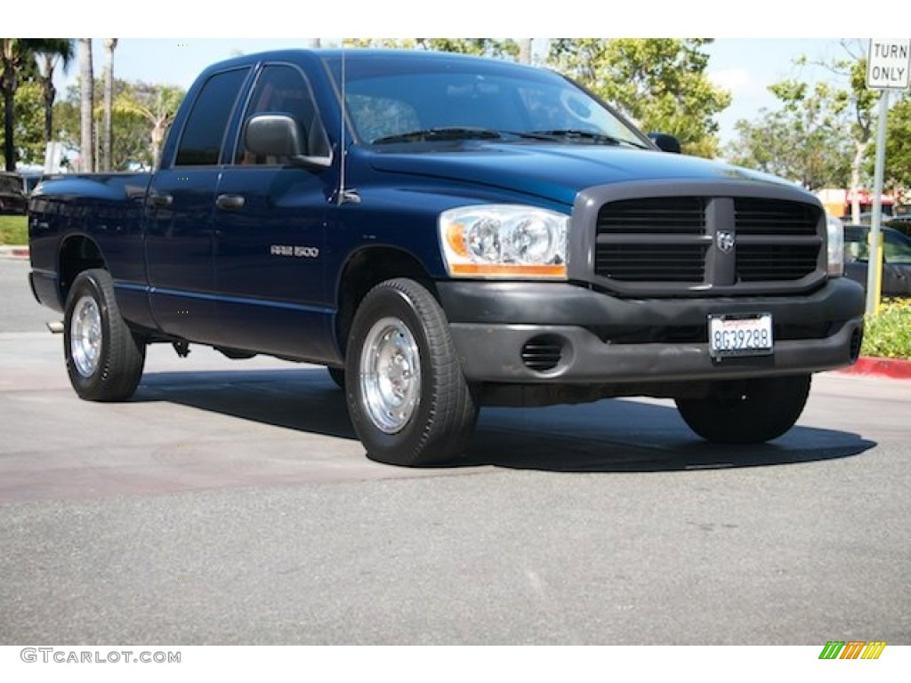 2006 Ram 1500 ST Quad Cab - Patriot Blue Pearl / Medium Slate Gray photo #1