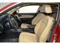 2012 BMW 1 Series Savanna Beige Interior Front Seat Photo