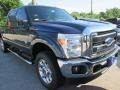 2015 Blue Jeans Ford F250 Super Duty XLT Crew Cab 4x4  photo #2