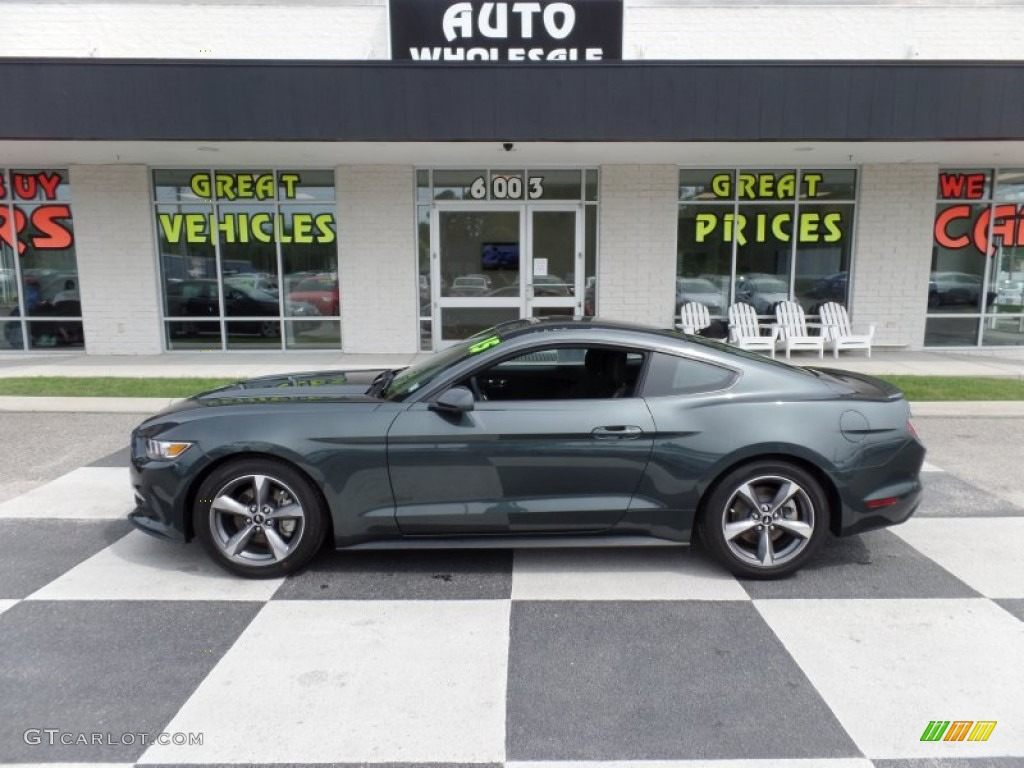 2015 Guard Metallic Ford Mustang V6 Coupe 104645323
