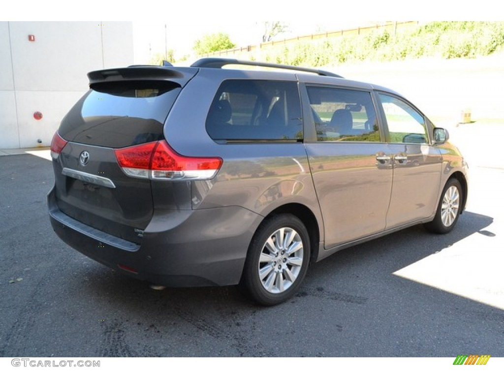 2012 Sienna Limited AWD - Predawn Gray Mica / Light Gray photo #2