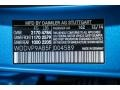 2015 B Electric Drive South Seas Blue Metallic Color Code 162