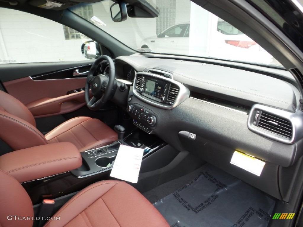 Limited Merlot Nappa Leather Interior 2016 Kia Sorento