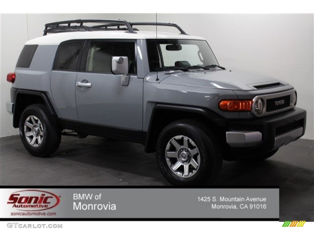 2014 Cement Gray Toyota FJ Cruiser 4WD #104750694 | GTCarLot.com - Car Color Galleries