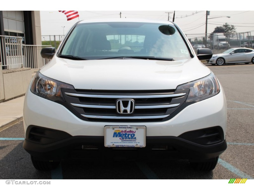 2013 CR-V LX AWD - White Diamond Pearl / Gray photo #2