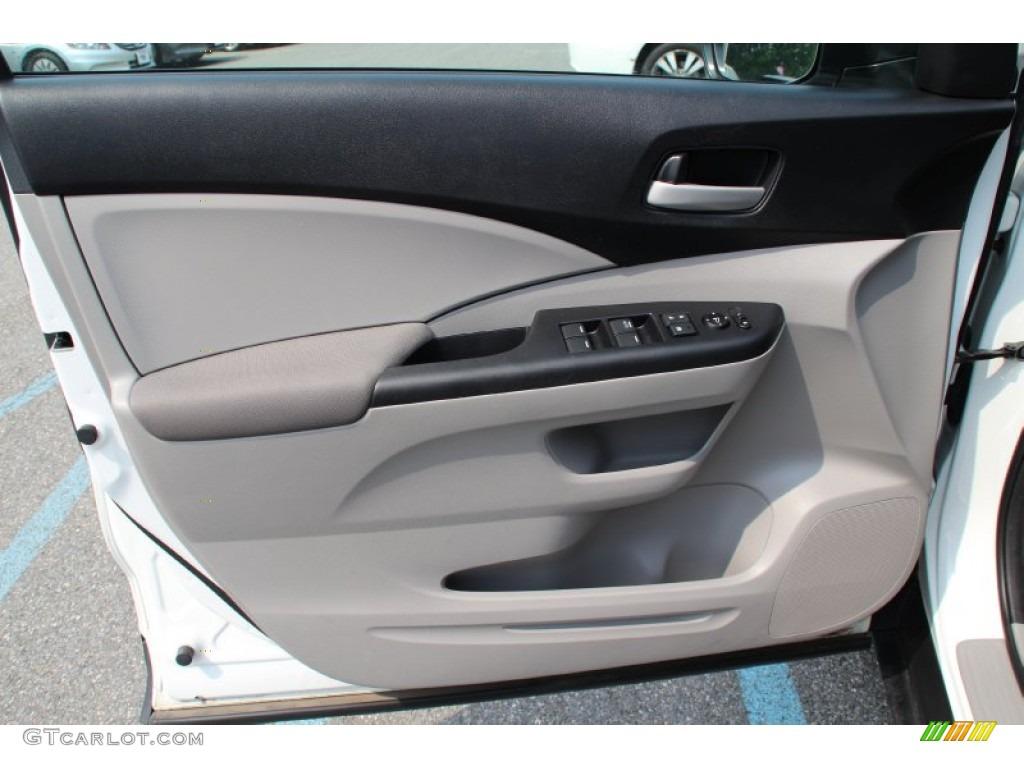 2013 CR-V LX AWD - White Diamond Pearl / Gray photo #6