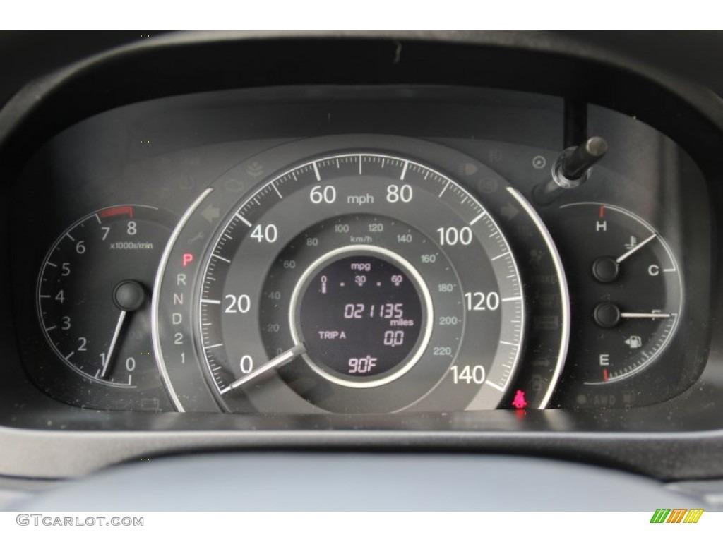 2013 CR-V LX AWD - White Diamond Pearl / Gray photo #16