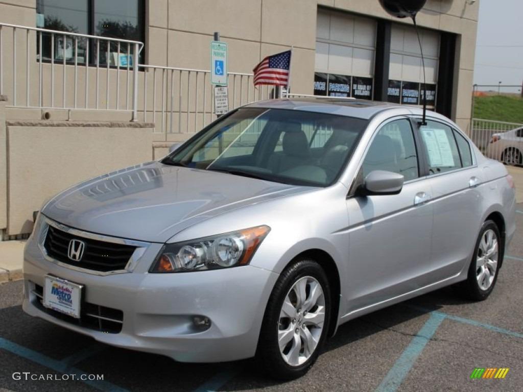 2009 alabaster silver metallic honda accord ex l v6 sedan for Honda accord ex l v6