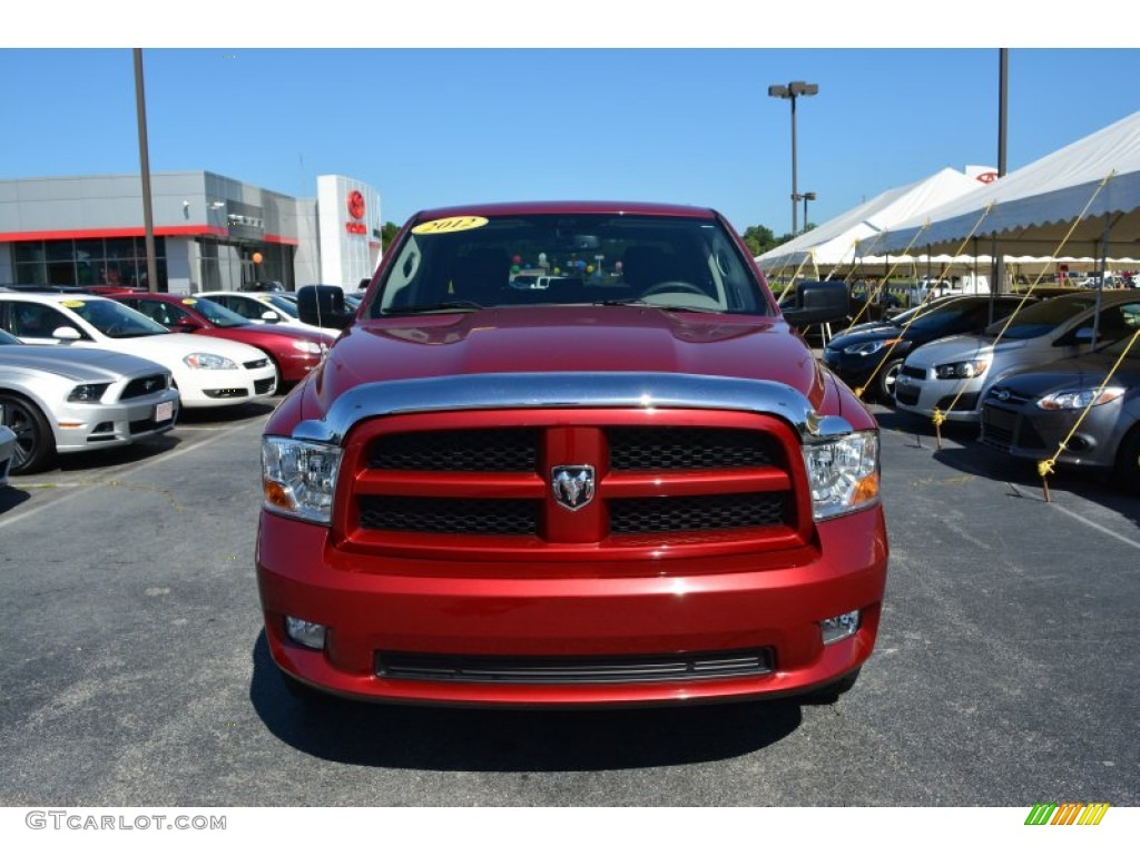 2012 Ram 1500 Express Crew Cab - Deep Molten Red Pearl / Dark Slate Gray/Medium Graystone photo #26