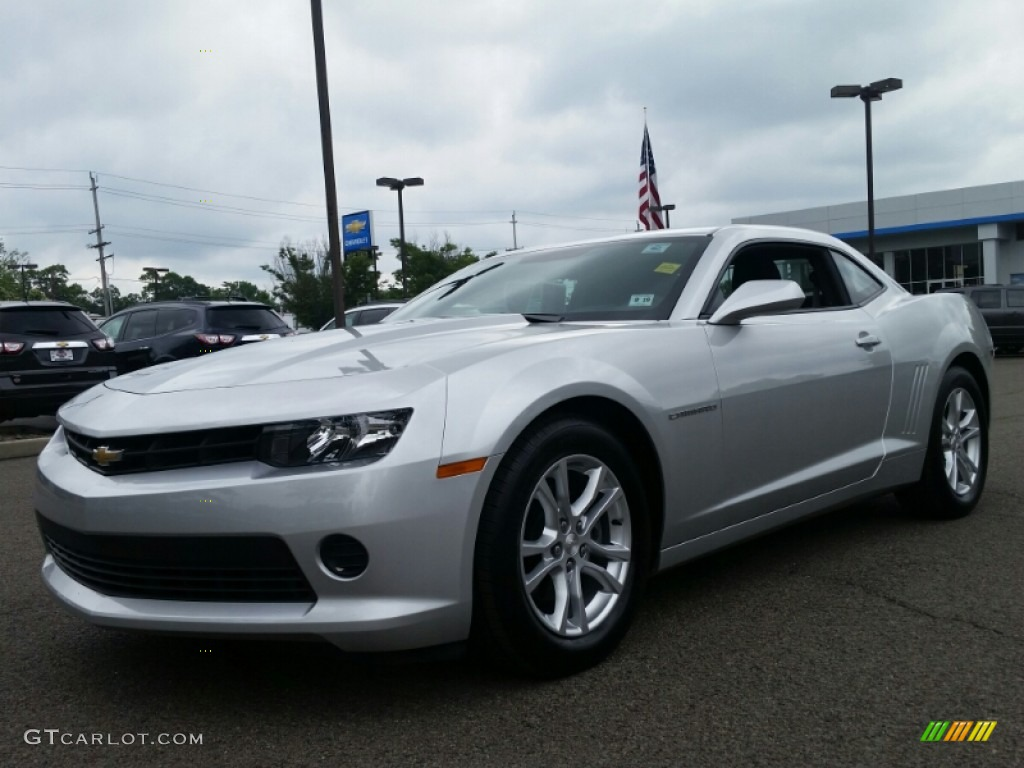 2014 Silver Ice Metallic Chevrolet Camaro Ls Coupe