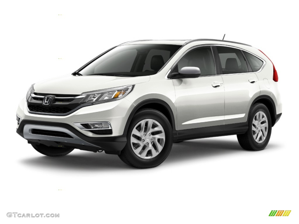 2015 CR-V EX-L - White Diamond Pearl / Black photo #19
