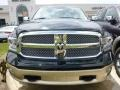 2015 Black Forest Green Pearl Ram 1500 Laramie Long Horn Crew Cab 4x4  photo #2