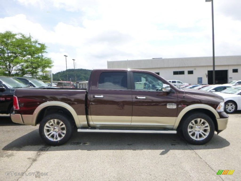 2015 1500 Laramie Long Horn Crew Cab 4x4 - Western Brown / Black/Cattle Tan photo #8