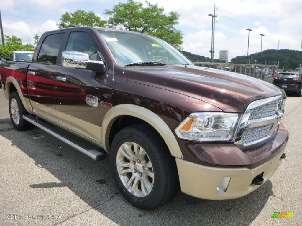 2015 1500 Laramie Long Horn Crew Cab 4x4 - Western Brown / Black/Cattle Tan photo #10