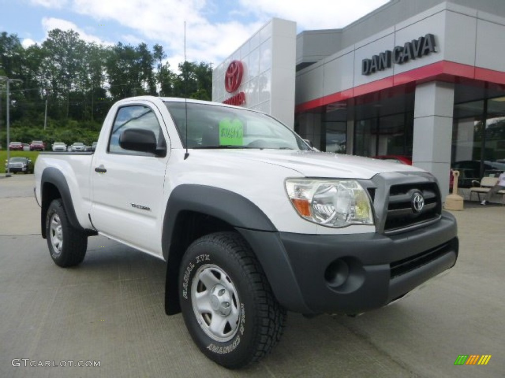 2010 super white toyota tacoma regular cab 4x4 104799063 car color galleries. Black Bedroom Furniture Sets. Home Design Ideas