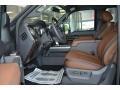 2016 Ford F250 Super Duty Platinum Pecan Interior Front Seat Photo