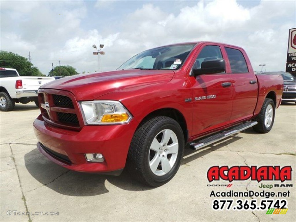 2012 deep cherry red crystal pearl dodge ram 1500 express crew cab 104839089 photo 3. Black Bedroom Furniture Sets. Home Design Ideas