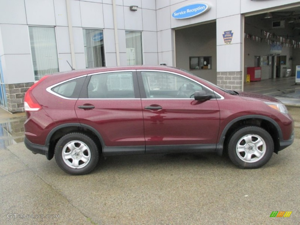 2012 CR-V LX 4WD - Basque Red Pearl II / Gray photo #2