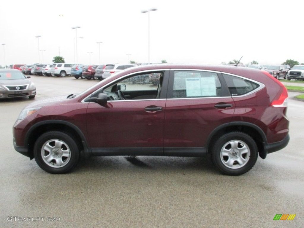 2012 CR-V LX 4WD - Basque Red Pearl II / Gray photo #4