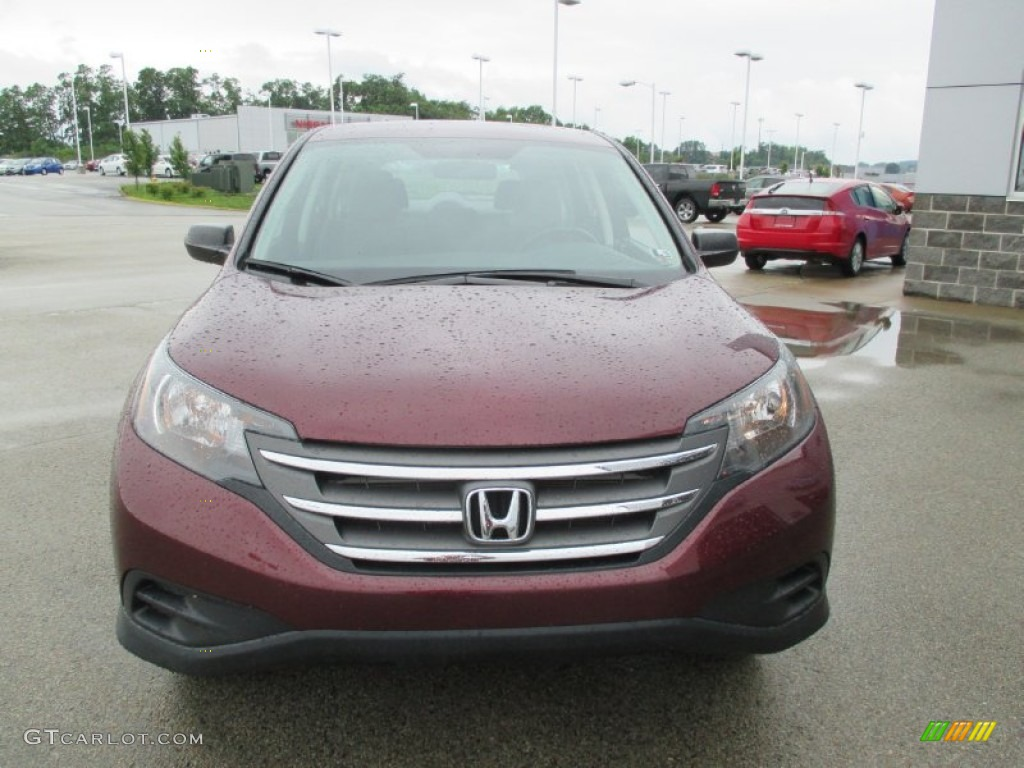 2012 CR-V LX 4WD - Basque Red Pearl II / Gray photo #19
