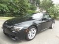 Black Sapphire Metallic 2008 BMW 6 Series 650i Convertible